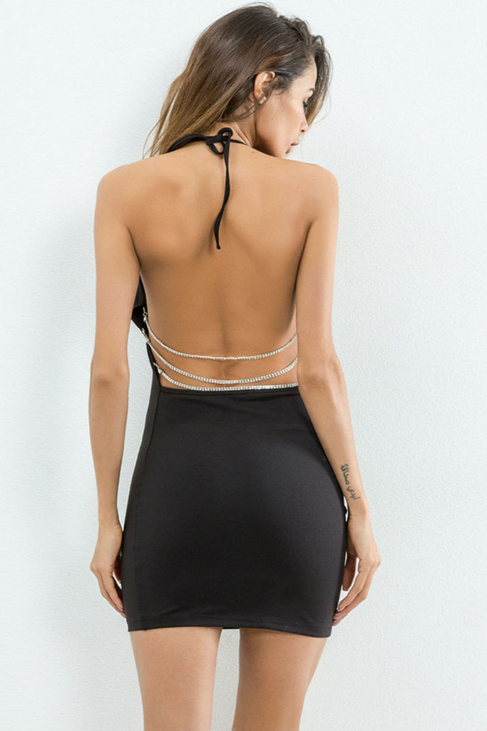 Backless Halter Party Dress