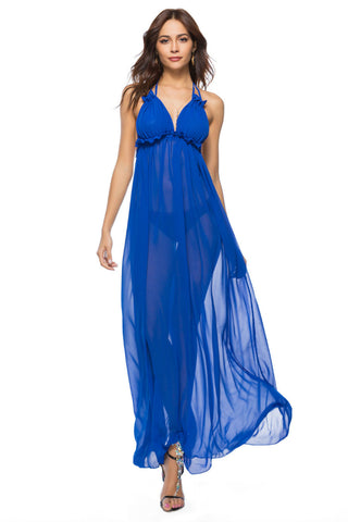 Backless Maxi Halter Dress