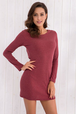 Back Open Knitted Dress