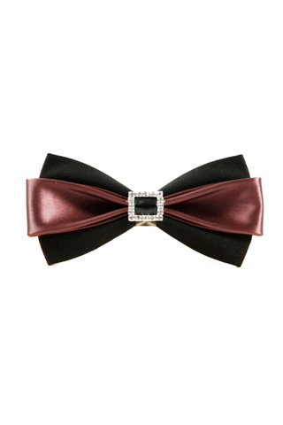 Diamond Leather Bow Tie