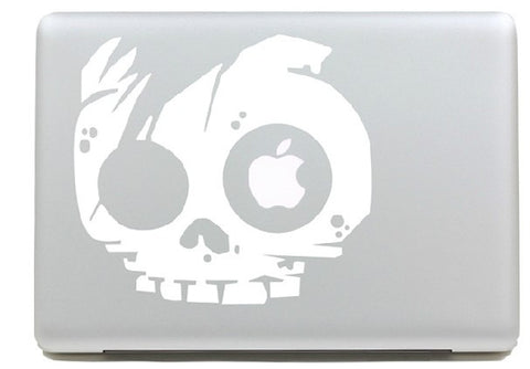 Macbook Apple Skull Decal Sticker. Art Decals By Moooh!!