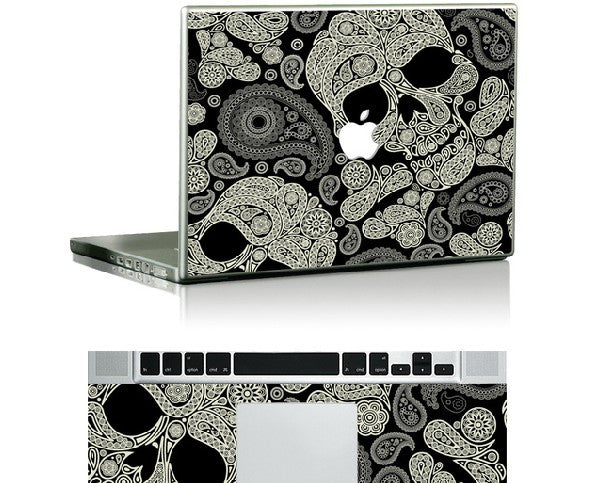 Macbook Pasley Skulls Decal Sticker. Art Decals By Moooh!!