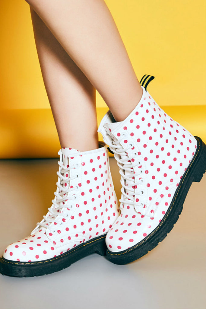 Dots Pattern Boots