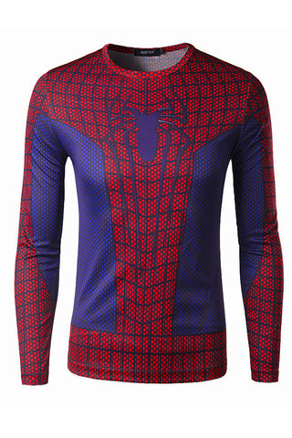 Spider-Man Red Printed Long Sleeve T-Shirt