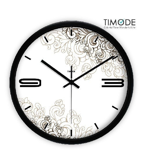 Fashion Art Wall Clock In Black