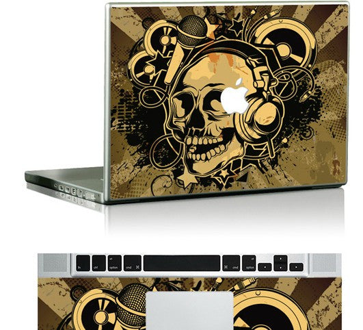 Macbook Stereo Skull Skin Decal Sticker. Art Decals By Moooh!!