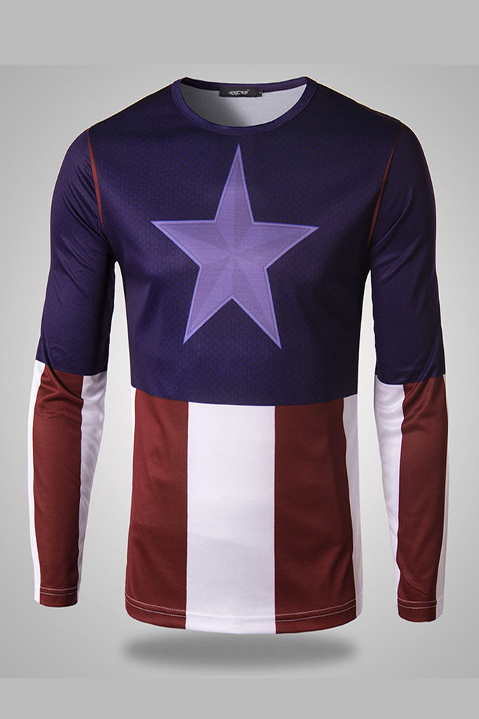 Capt. America Long Sleeve T-Shirt