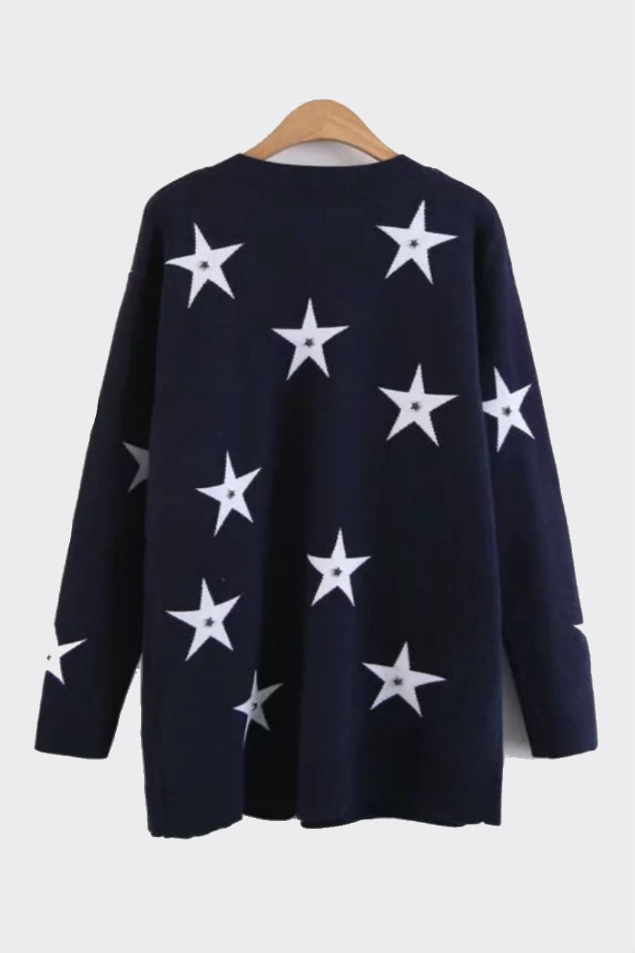 Star Pattern Studded Cardigan