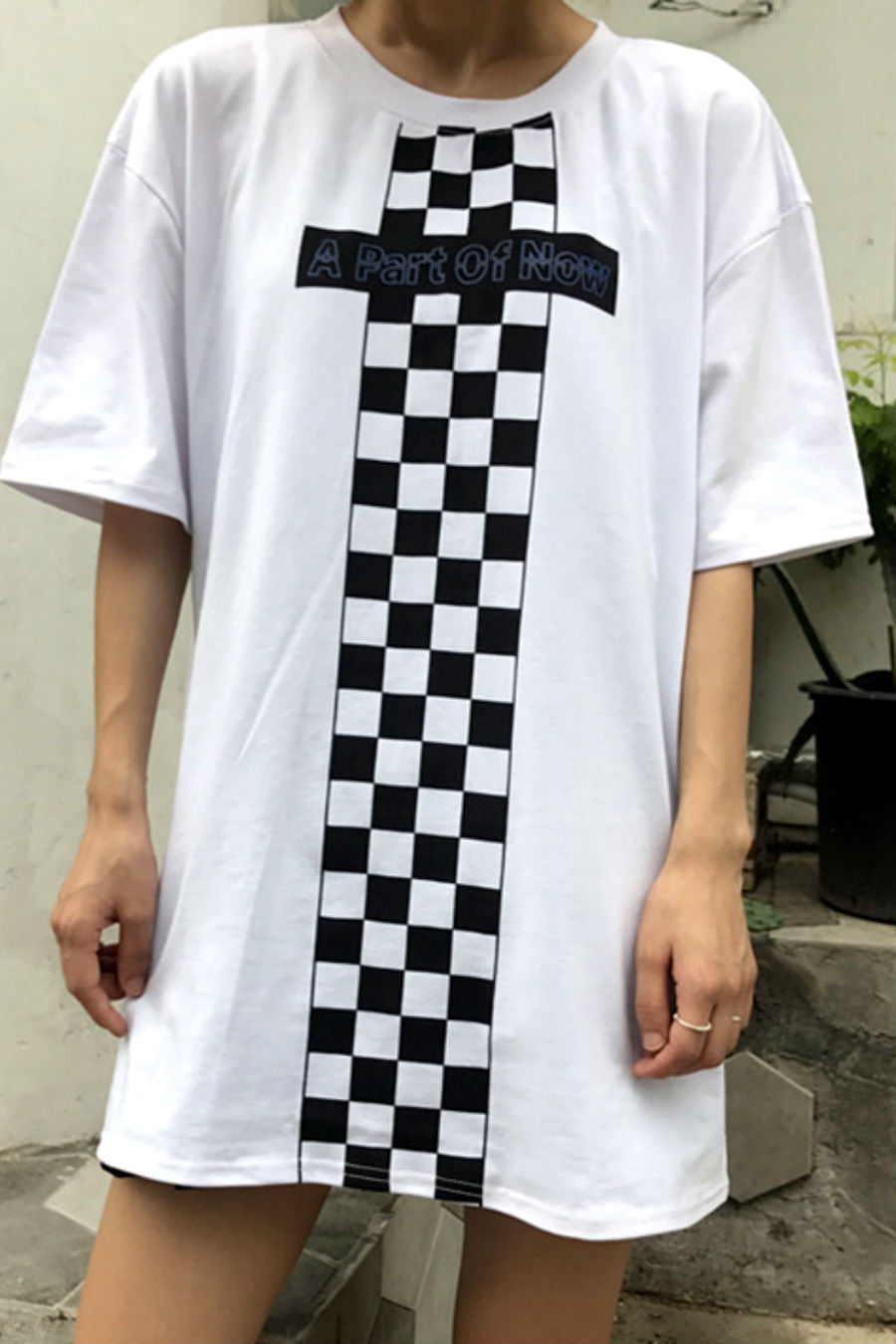 Checkerboard Cross T-shirt