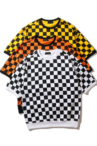 Checkerboard Oversize T-shirt