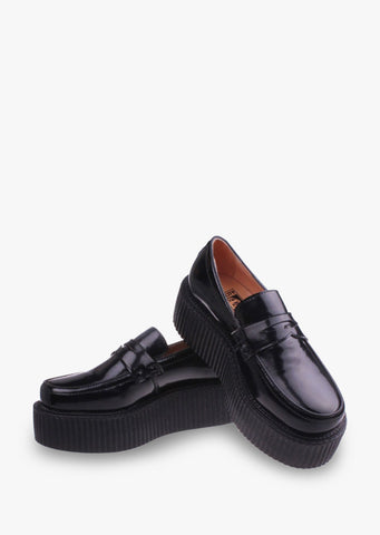 Black Platforms Loafers
