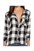 Vintage Style Plaid Women Shirt