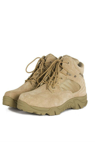 Military Trekking Boots In Beige