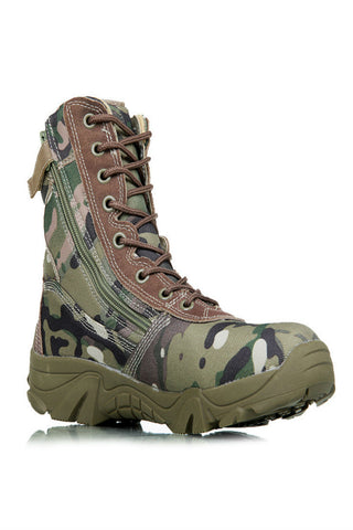 Mens Military Camo Trekking Boots