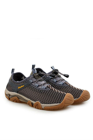 Grey Breathable Trekking Shoes