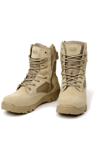 Trekking Men's Boots In Beige