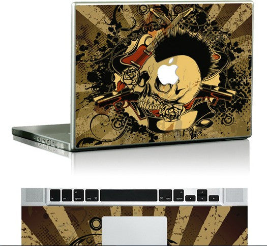 Macbook Vintage Skull Skin Decal Sticker. Art Decals By Moooh!!