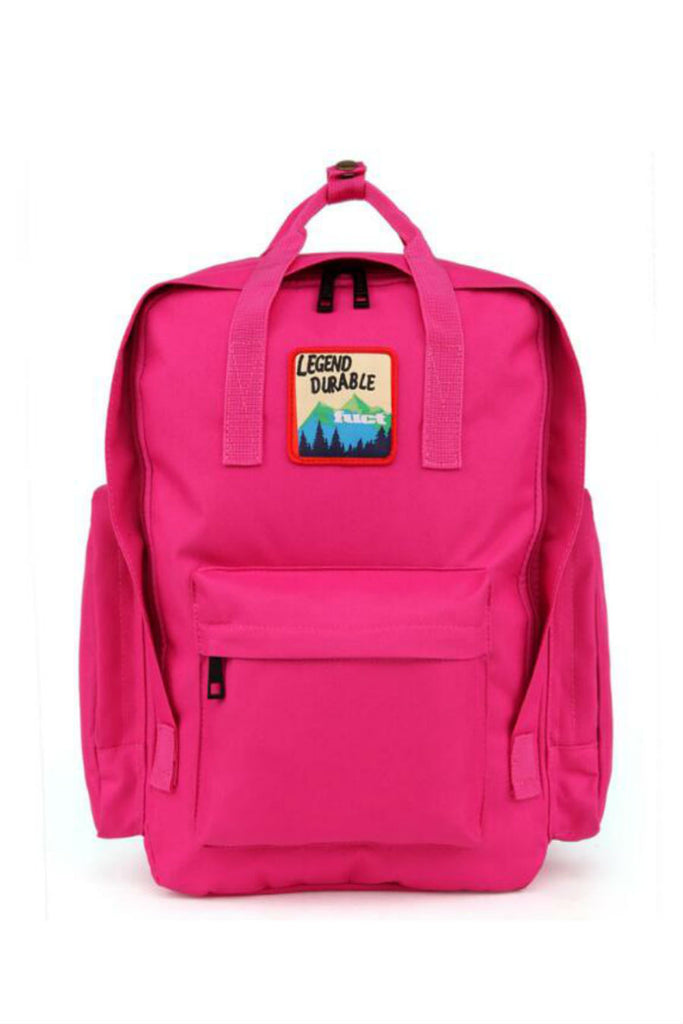 Vintage Travel Backpack In Fuchsia