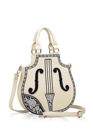 Vintage Cream Violin Handbag