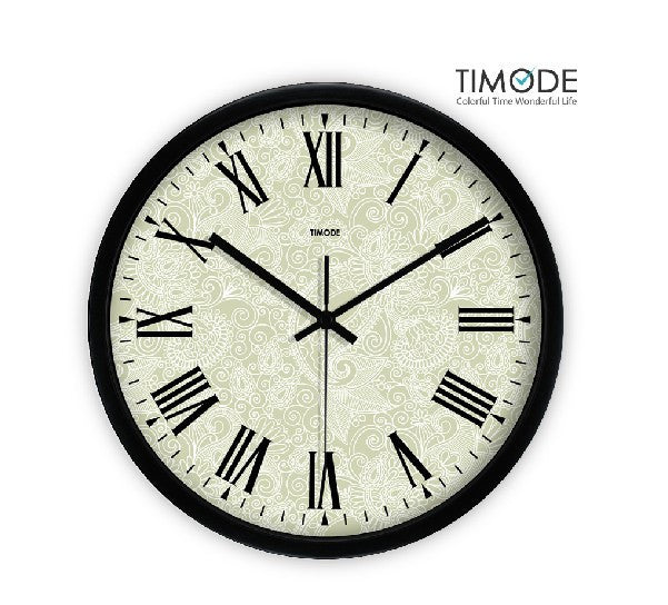 Fashion Art Wall Clock Vintage In Black