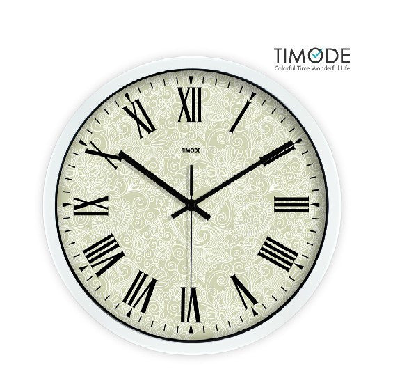 Fashion Art Wall Clock Vintage In White