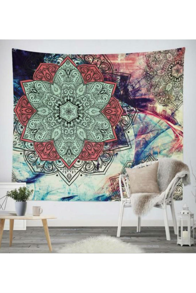 Ethnic Tie Dye Floral Wall Hanging