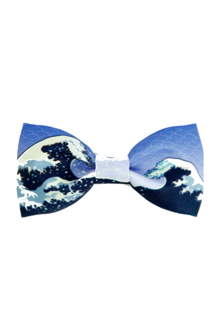 Sea Waves Bow Tie