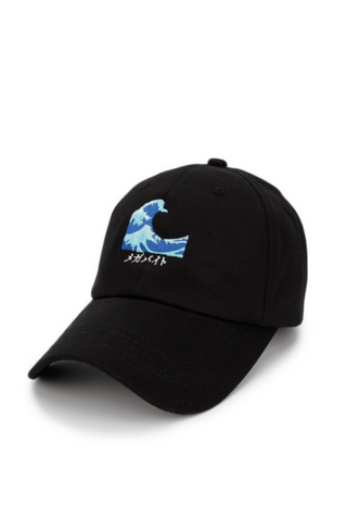 Wave Embroidered Baseball Hat