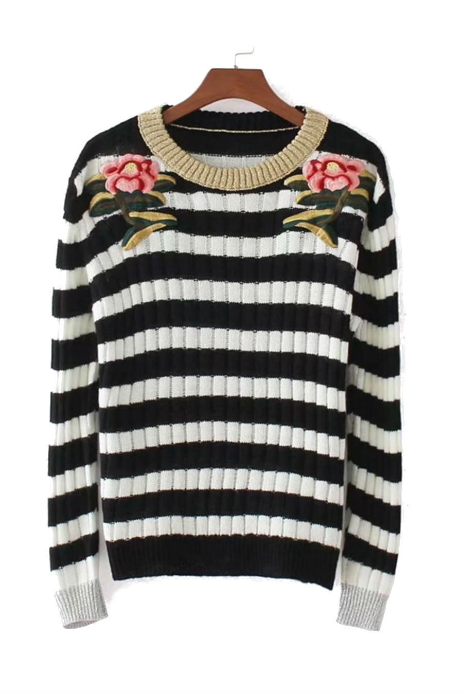 Rose Retro Striped Jumper
