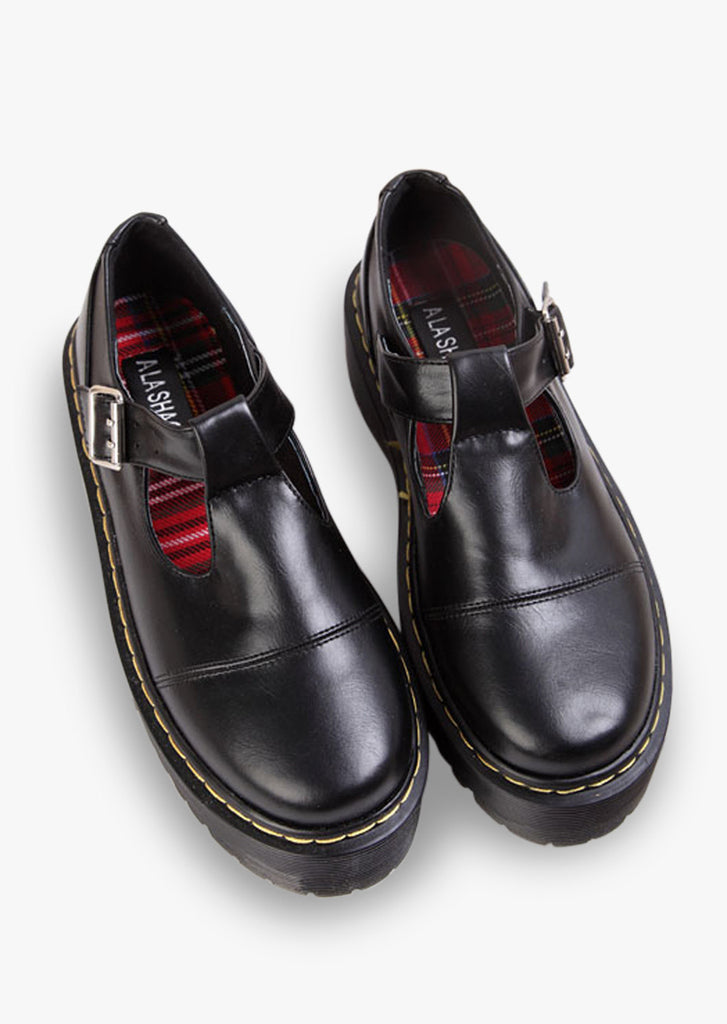 Natural Leather Black Shoes