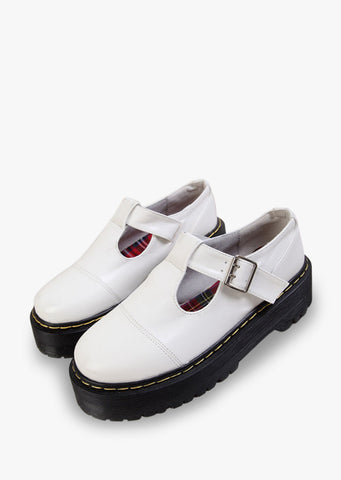 Natural Leather White Shoes