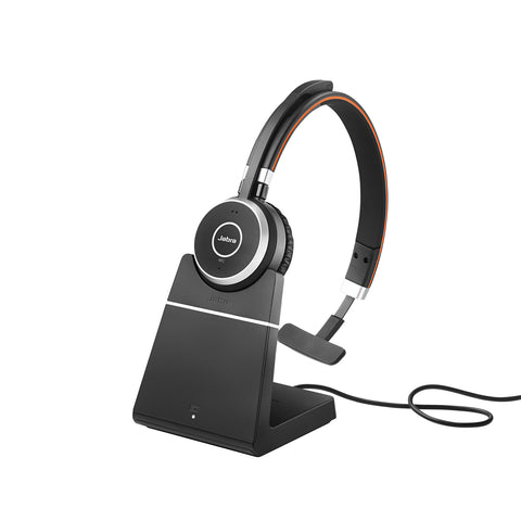 Jabra Evolve 65 UC Mono Bluetooth Headset + Charge Stand
