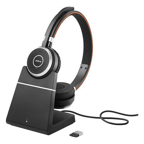 Jabra Evolve 65 Stereo Bluetooth Headset - MS + Charge Stand