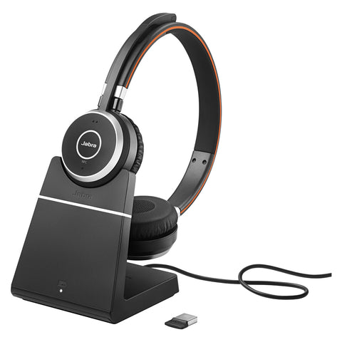 Jabra Evolve 65 Stereo Bluetooth Headset - UC + Charge Stand