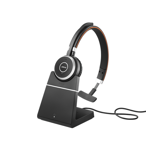 Jabra Evolve 65 Mono Bluetooth Headset - MS + Charge Stand