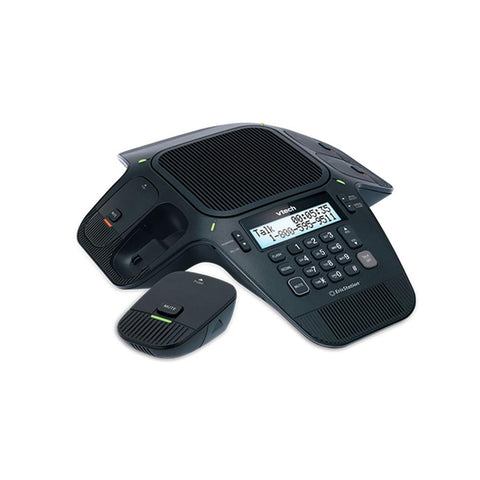 VTech VCS702A ErisStation® Conference Phone with 1x Fixed Microphone and 2x DECT Wireless Mics