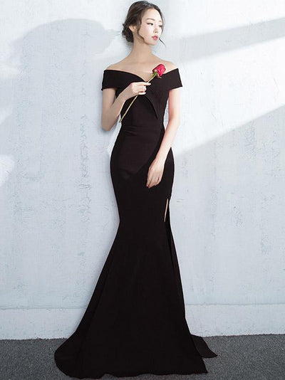Off-the-shoulder Mermaid Evening Dress
