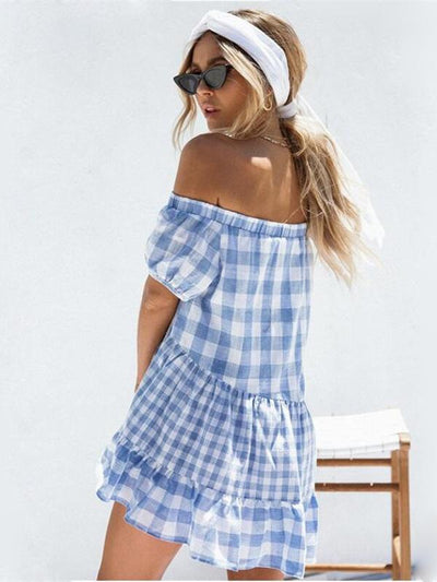 Loose Off-the-shoulder Mini Dress