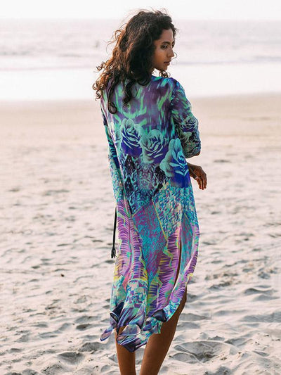 Chiffon Printed Swimwear Cover-ups