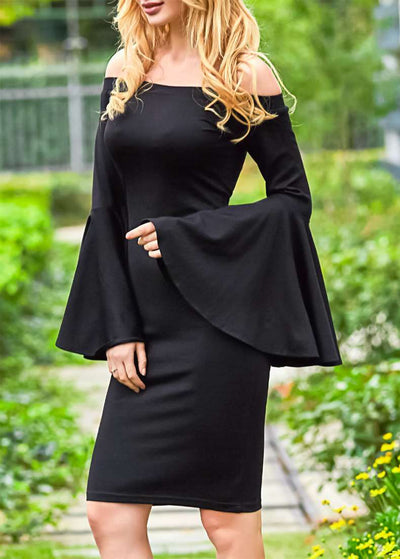 Fashion Off shoulder Mandarin sleeve Bodycon Dresses