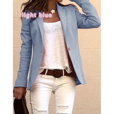Casual Pure Lapel Long sleeve Tee Blazer