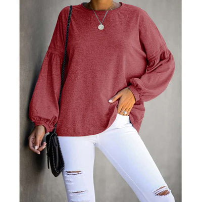 Fashion Loose Round neck Puff sleeve T-Shirts
