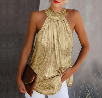 Fashion Casual Halter Sleeveless T-Shirts
