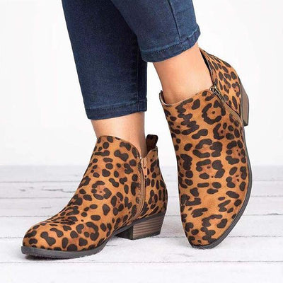 Fashion Low Heel Cute Short Boots
