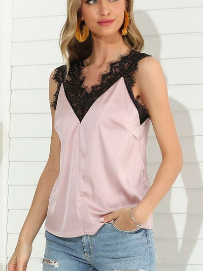 Fashion Sexy Lace V neck Vests
