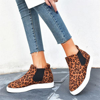Casual round toe shoes sneakers high help for women