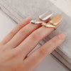 Popular Metal Texture Fashionable Smooth Fingernail Ring