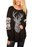 Christmas Reindeer Floral Long sleeve T-shirt