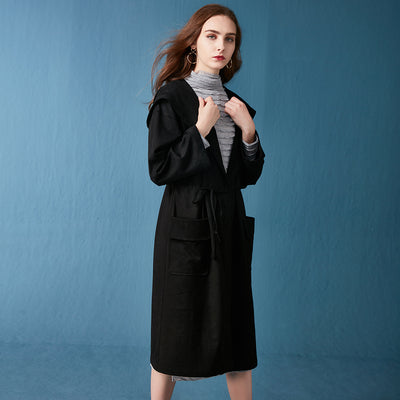 New Autumn Women Pure  long   Hat  Trench Coats
