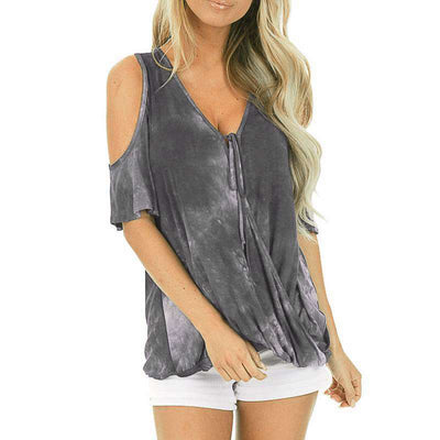 Casual Bandhnu Off shoulder Short sleeve T-Shirts